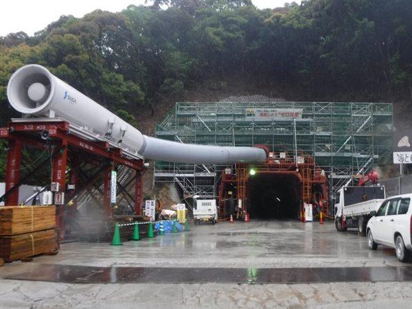 井関トンネル仮設電気工事